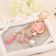 Rose Gold Color Gifts Ring Charm Jewelry KeyChain Key Chain Keyring Tassel