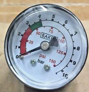 """100 piece Pack of  BAKER Pressure Gauge  40 mm Dial Back  1/8"""" 10 bar"""