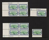 U.S. #R733-734 MNH Plate blocks and singles, cat. $ 51.25 (B)