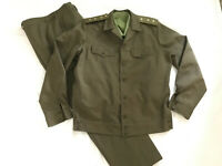 Vintage USSR Green Work Uniform Single Russian Sargent