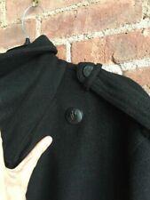 Rag & Bone Men's Military Coat, Wool, Black Sz 46 XXL SLIM, USA Double Breasted