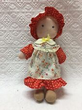 Vintage Knickerbocker Carrie - Holly Hobbie's Friend - Cloth Prairie Doll