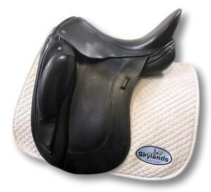 "Used Schleese Obrigado - Size 17.5"" Dressage Saddle Black"