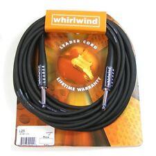 Whirlwind Leader Guitar Cable/lead Str-str 25ft Black. L25