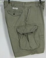 POLO BY RALPH LAUREN MEN'S W34 CLASSIC CHINO GREEN CARGO SHORTS ALL COTTON GUC