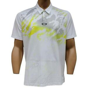 Oakley Cryptic Polo Mens Size S Small White Golf Casual T-Shirt Regular Fit Tee