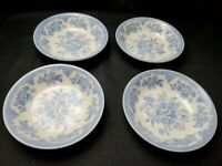 4 Royal Stafford Powder Blue & White  Asiatic Pheasant Cereal / Soup Bowls EUC