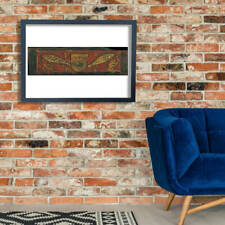 Ceiling Panel With Coat Of Arms and Fishes Wall Art Poster Print
