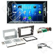 JVC kw-v235dbt autoradio + VOLVO xc90 (C Facelift) pannello 2-din + Adattatore ISO