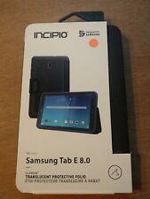 Incipio Clarion Black Protective Folio Case Cover For Samsung Galaxy Tab E 8.0