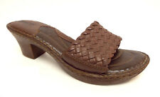 BORN Size 9 Brown Leather Slide Sandals Shoes 40.5