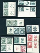 LOT 80337 UNUSED 242 / 250 TABS  STAMPS FROM CZECHOSLOVAKIA