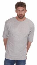 Ropa para Hombre Camiseta Manga Corta Cuello Liso Tripulación Cuatro Tallas