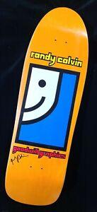 Randy Colvin Signed Prime Goodwill Graphics Orange Autograph Skateboard Deck