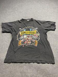 Vintage Guns N Roses Shirt Mens Extra Large 1990 Concert Adult Tee Crew Neck