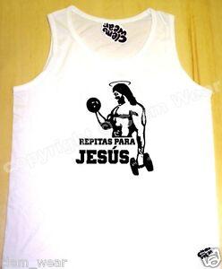 REPITAS PARA JESUS tanque superior CHALECO peso larguero levantar gimnasio vest