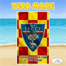 Telo Mare in spugna Lecce squadra Serie A nome personalizzato regalo estate