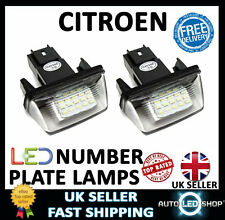 CITROEN C4 PICASSO SMD LED WHITE NUMBER PLATE LIGHT LAMP UPGRADE BULBS XENON