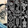 Punk Airbrush Body Art Paint Temporary Henna Tattoo Stencil Templates