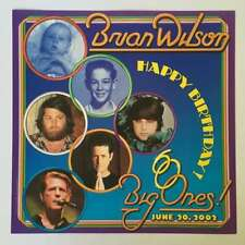 Brian Wilson 60th Birthday 16x16 Poster Numbered Edition of 225 Mint from 2002