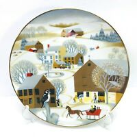 Betsey Bates Collector Plate Christmas on the Farm VTG 1981 World Book Series