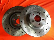 CROSS DRILLED fits MERCEDES E500 W212 2009-2011 FRONT Disc Brake Rotors