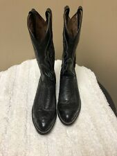 *Beautiful* Tony Lama Full Quill Leather Ostrich Boots Size 10.5D Excellent!