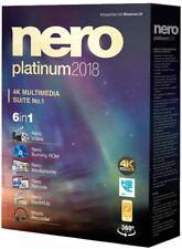 NERO Platinum 2018 Suite descarga digital desde el sitio web oficial + tecla Original