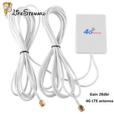 LTE SMA Antenna Booster Amplifier Panel 28dBi Gain Signal for 4G 3G Router WIFI