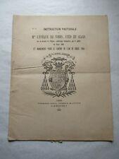 INSTRUCTION Pastorale de Mgr l'Évêque de Nîmes  1888