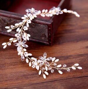 HAARTIARA Haargesteck Tiara Hochzeit Blumen Vintage Kopfschmuck Damen Braut  NEU