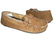 Daniel Green Women's Nessa Loafers Chestnut Shearling Leather/Fur Lining Sz 11 M