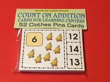 Count On Addition Cards - Cards for Learning Center 52 Cards-Letters Teaching