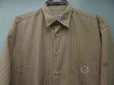 Vintage SONNETI size M mens cotton shirt long sleeve beige stripe