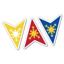 Philippine Flag Sun Stars Sticker Flag Bumper Water Proof Vinyl #6779EN