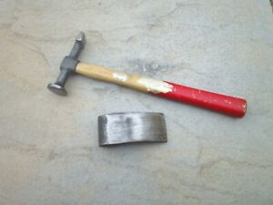 Vintage Whitehouse planishing panel beating hammer with curved dolly
