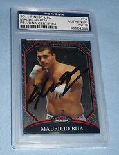 Mauricio Shogun Rua Signed UFC 2011 Topps Finest Card #74 PSA/DNA Auto'd Pride