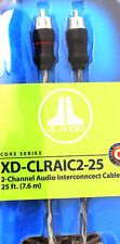 JL Audio XD-CLRAIC2-25 2-Channel RCA Cable 25ft (7.62 m) Audio Interconnect NEW
