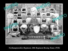 Old Historic Military Photo Of Northamptonshire Regiment Boxing Team 48th 1930
