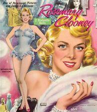 Vintage 1958 Rose Clooney Paper Dolls ~Pretty Laser Reproductin~Orig. Size Uncut