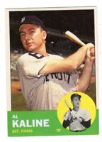 1963 Topps #25 Al Kaline - Detroit Tigers, Near Mint Condition