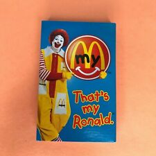 "Vintage 1997 McDonald's ""That's My Ronald"" Happy Meal Cassette Tape + Sleeve"