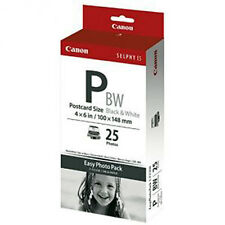 New Canon Selphy Es Postcard size 4x6 Bw Black and White Paper/Ribbon 1251B001