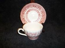 Wessex Collection England Red Pink Willow Cup Saucer Dishwasher Microwave Safe