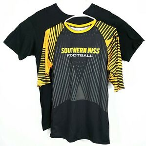 Southern Miss Football 2 Short Sleeve Shirts Youth Large Yellow 11 Compression