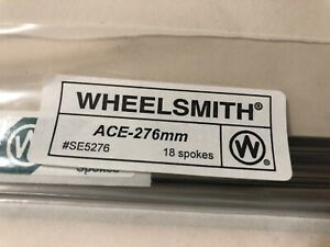 NEW Wheelsmith ACE14-276mm Blade Spokes Bag of 18