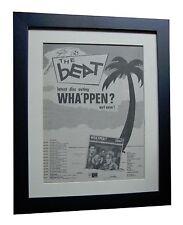 THE BEAT+Wha'ppen?+TOUR+POSTER+AD+RARE ORIGINAL 1981+FRAMED+EXPRESS GLOBAL SHIP