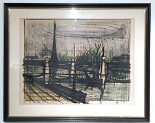 """Bernard Buffet """"Paris, Point du jour"""", Original Litografie, nummeriert, signiert"""