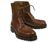 Silvano Lattanzi Brown Calf Leather Boots Shoes 9 (EU 8) Hand-made in Italy