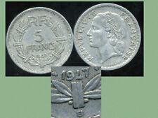5 francs LAVRILLIER 1947 B    (  le 9 fermé  ) ( bis )